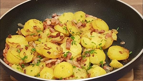 Batata Salteadas com Bacon