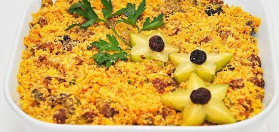 Farofa de Frutas Natalina
