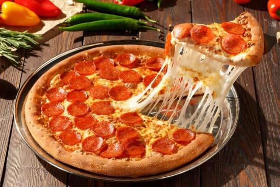 Pizza Americana de Pepperono com Massa PAN